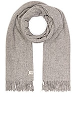 Rag & Bone Classic Wool Scarf in Light Heather Grey