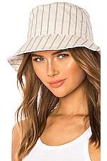 Rag & Bone Ellis Bucket Hat in Ivory Stripe