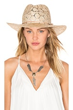 Straw Wide Brim Fedora en Naturel