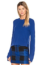 Valentina Cashmere Crop Sweater in Bright Blue
