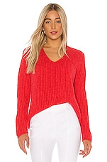 Rag & Bone Joseph V-Neck Sweater in Bright Coral