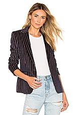 Rag & Bone Lexington Velvet Blazer in Navy Stripe