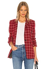 Rag & Bone Hazel Check Blazer in Red Check