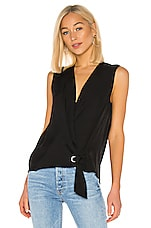 Rag & Bone Felix Sleeveless Popover in Black