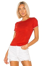 Rag & Bone Sonny Tee in Fire Red