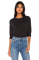 Rag & Bone The Cropped Longsleeve in Black