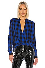 Rag & Bone Camile Shirt in Blue Black