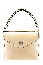 Rag & Bone Pizza Rat Micro Atlas Crossbody Bag in Gold
