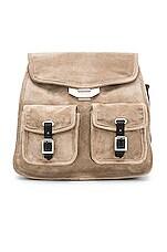 Rag & Bone Small Field Backpack in Warm Grey Suede