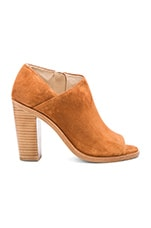 Mabel Bootie in Tan Suede