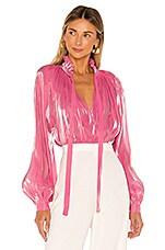 Rhode Adele Blouse in Rose Shimmer