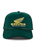 Rhude Rhonda Trucker Cap in Green & Yellow