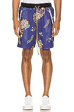 Rhude Bandana BBall Shorts in Blue