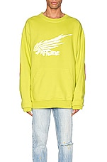 Rhude Dragon Crewneck in Green