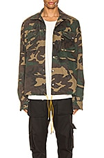 Rhude Drawstring Jacket in Camo