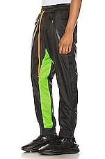 Rhude Flight Suit Pant in Black & Neon Green