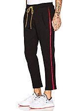 Rhude Traxedo Pant in Black & Burgundy
