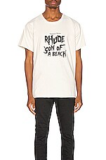 Rhude Son Of A Beach Tee in White