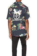 Rhude Hawaiian Shirt Girl in Black