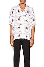 Rhude Cowboy Hawaiian Shirt in White