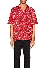Rhude Bandana Hawaiian Shirt in Red