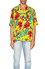 Rhude Hawaiian Shirt in Green