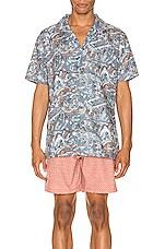 Rhythm Sumatra Shirt in Pacific Blue