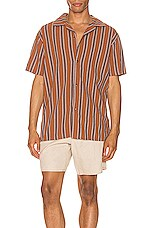 Rhythm Vacation Stripe Shirt in Almond