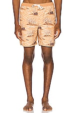 Rhythm Honolulu Beach Short in Sunset Yellow