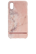 Richmond & Finch Pink Marble iPhone X/XS Case in Pink Marble