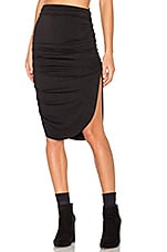 Mimi Skirt in Black French Terry