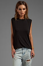 Alex Muscle Tee in Black