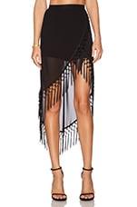 RISE OF DAWN Gypsy Dancer Tassel Skirt in Black