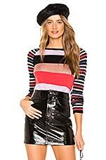Replica Los Angeles Metallic Stripe Sweater in Copper & Multi