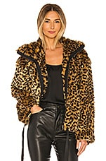 Rebecca Minkoff Faux Fur Brigit Jacket in Multi