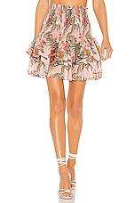 Rebecca Minkoff Amari Skirt in Peach Whip Multi