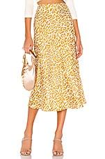 Rebecca Minkoff Davis Skirt in Golden Yellow Multi