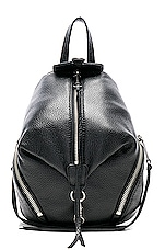 Rebecca Minkoff Convertible Mini Julian Backpack in Black