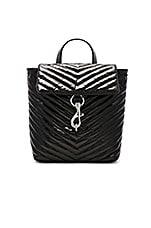 Rebecca Minkoff Edie Flap Backpack in Black