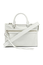 Rebecca Minkoff Micro Bedford Zip Crossbody in Optic White