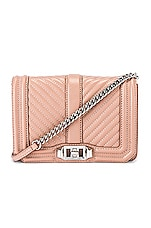 Rebecca Minkoff Chevron Quilted Small Love Bag in Doe