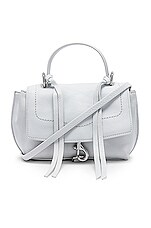 Rebecca Minkoff Stella Mini Flap Satchel in Optic White