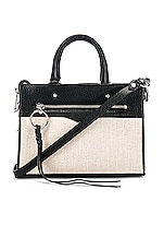 Rebecca Minkoff Micro Bedford Zip Satchel in Natural