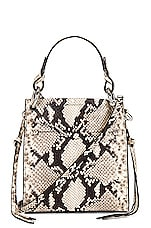 Rebecca Minkoff Kate Mini Tote in Natural Python