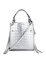 Rebecca Minkoff Kate Mini Tote in Silver