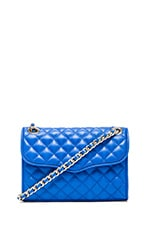 Rebecca Minkoff Quilted Mini Affair in Bright Blue