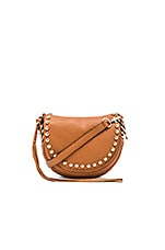 Unlined Saddle Bag in Almond