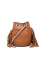 Fringe Bruni Bucket Bag in Almond