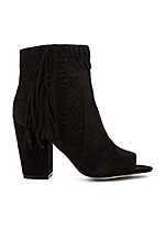 Iris Heel in Black Kid Suede