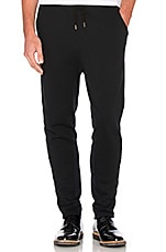 Seconds Slim Sweatpants in Black